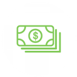 Save Money Icon with money stash icon